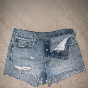Levi's Shorts - Distressed Levi's Free People 25W
